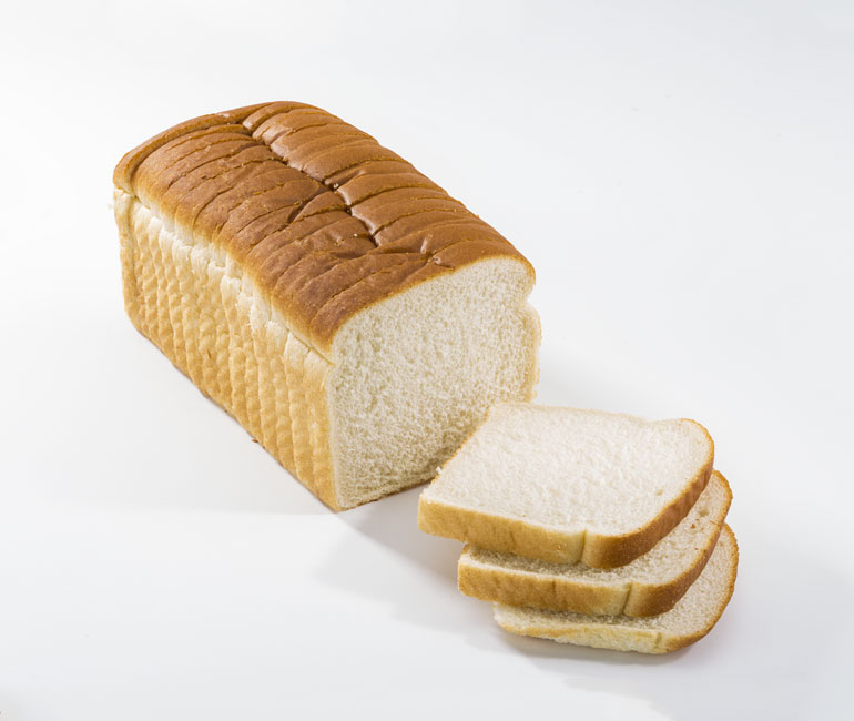 sliced loaf of Gold Medal Bakery white bread