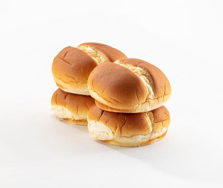 4 potato rolls from Gold Medal Bakery
