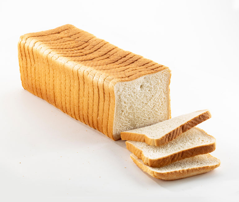 sliced loaf of Gold Medal Bakery club white bread