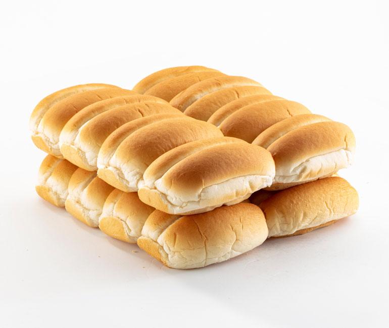 16 finger rolls from Gold Medal Bakery