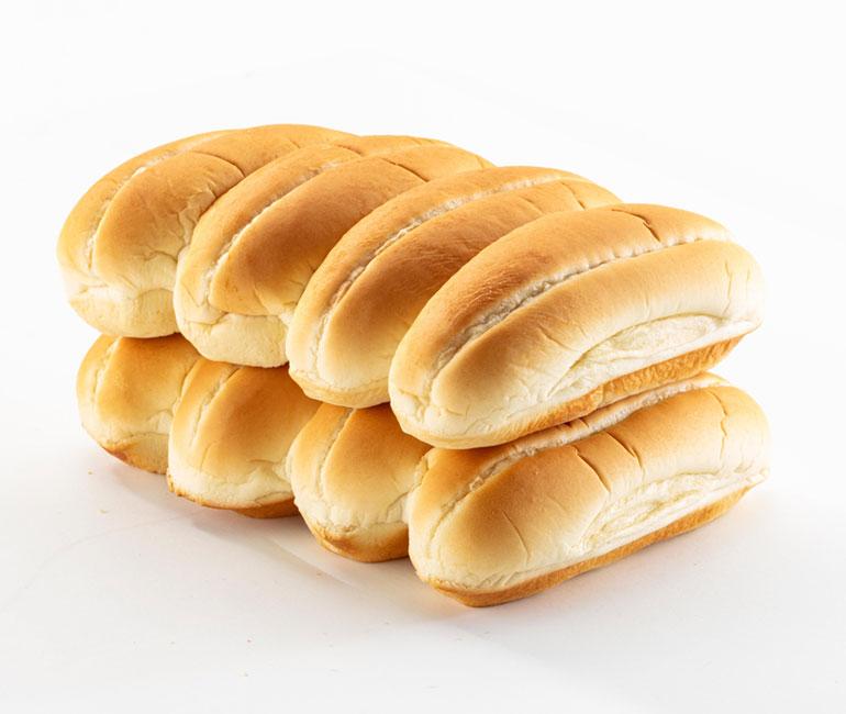 8 hotdog rolls from Gold Medal Bakery