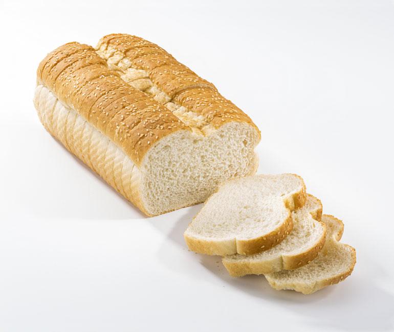 sliced loaf of Gold Medal Bakery seeded Italian bread