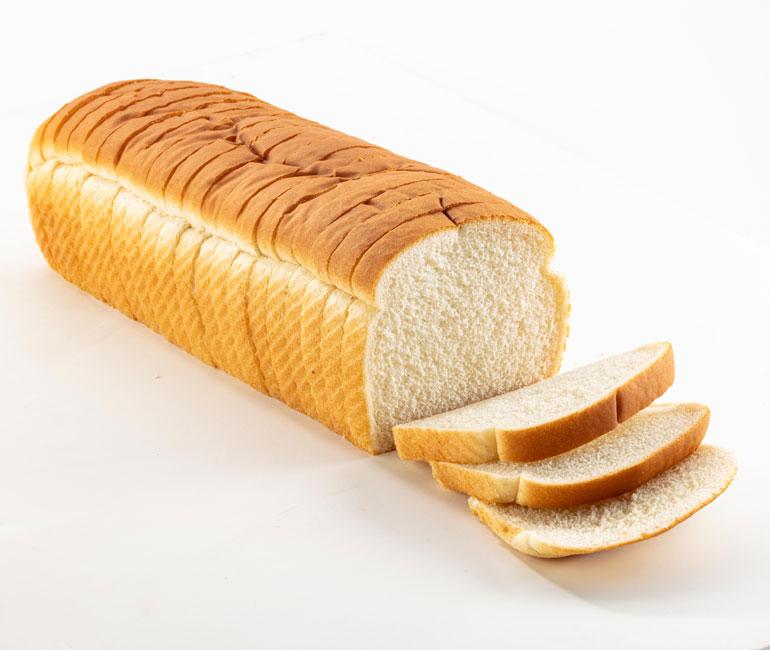 sliced jumbo loaf of Gold Medal Bakery white bread