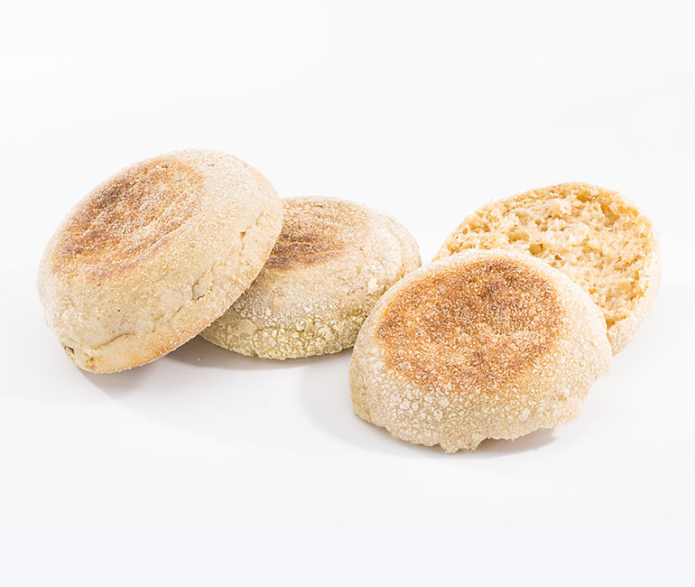 jumbo English muffins from Gold Medal Bakery