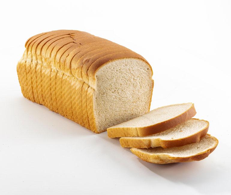 sliced loaf of Gold Medal Bakery organic white bread