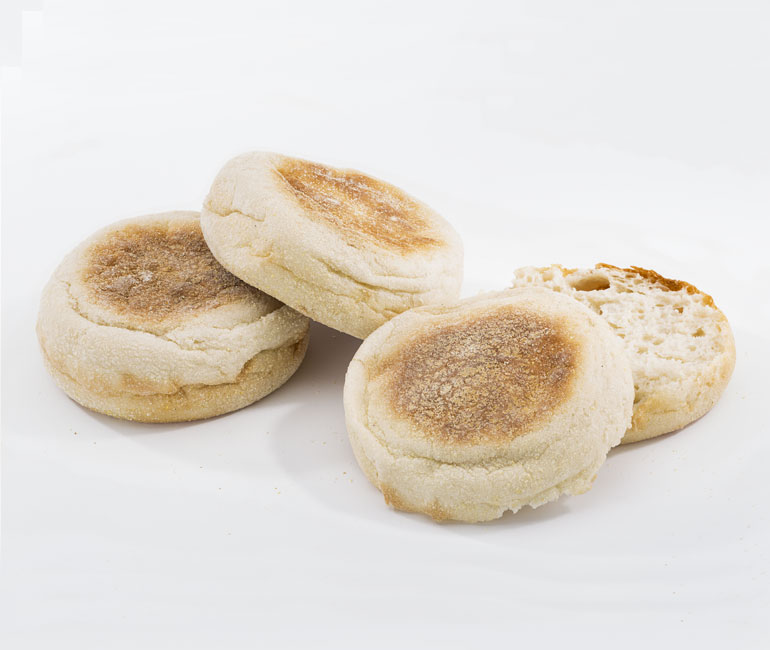 original English muffins from Gold Medal Bakery