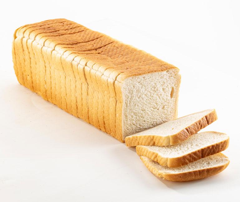 sliced loaf of Gold Medal Bakery white sandwich bread