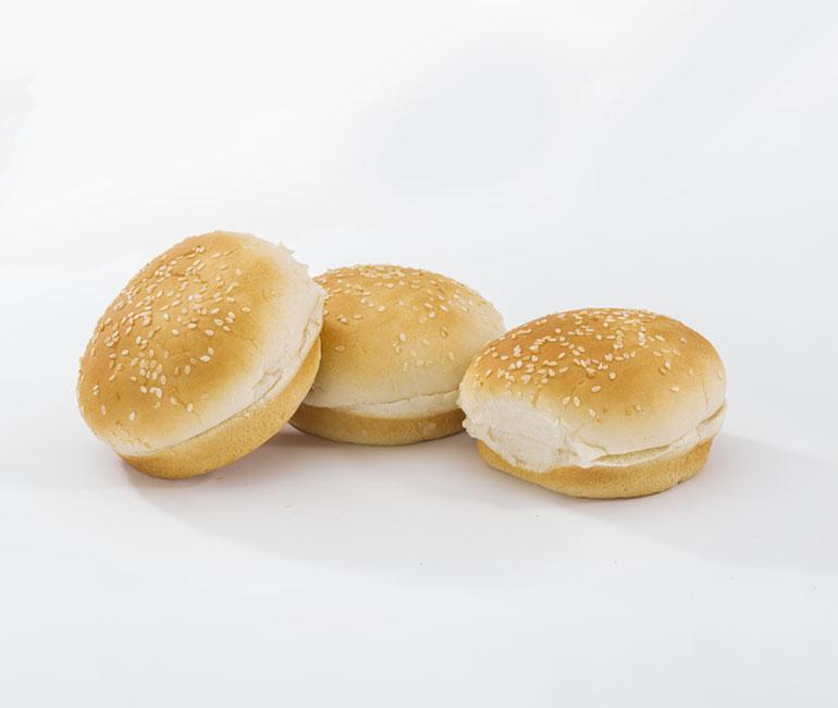seeded hamburger rolls from Gold Medal Bakery