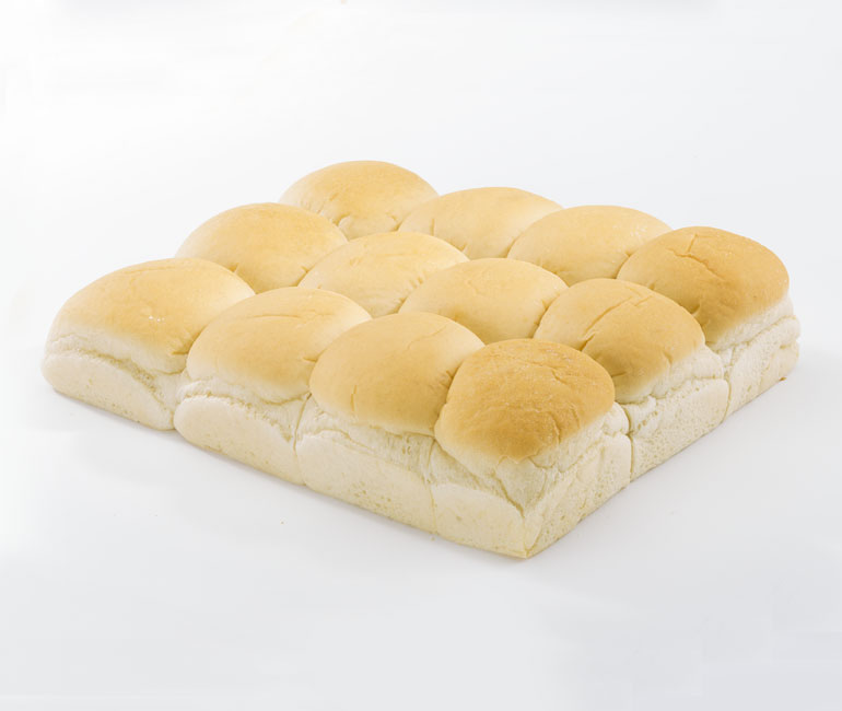 12 white bread brown and serve rolls from Gold Medal Bakery