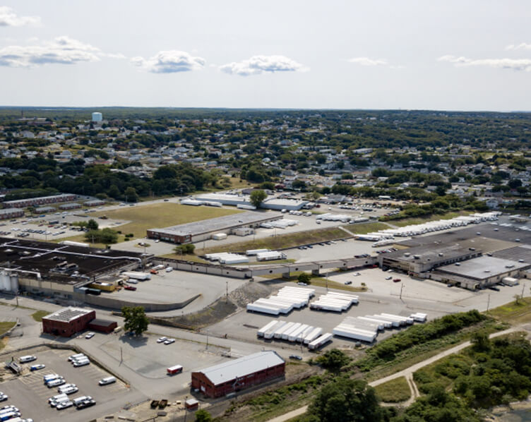 aerial view of Gold Medal Bakery Plant