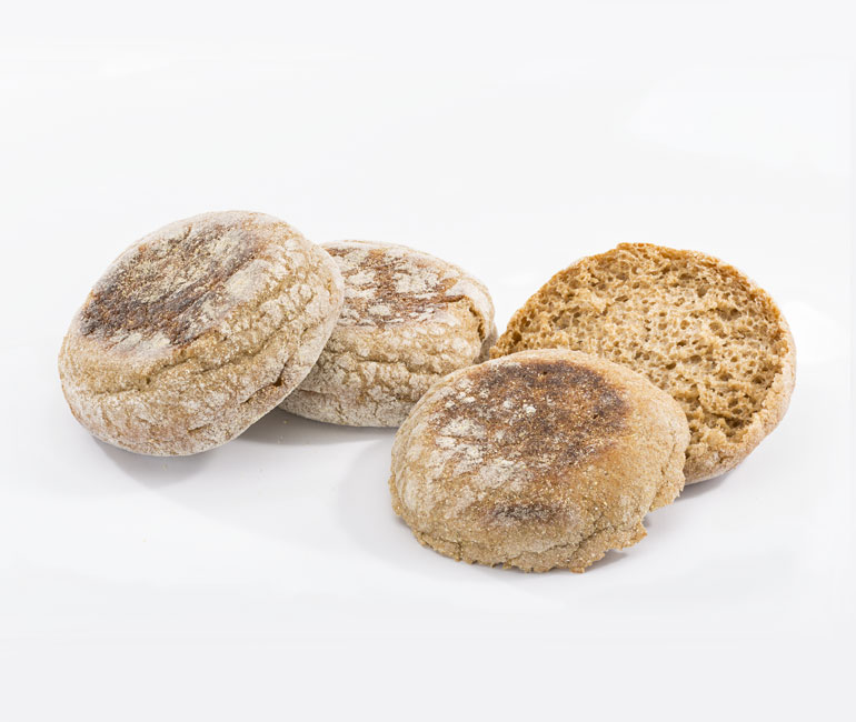 whole wheat English muffins from Gold Medal Bakery