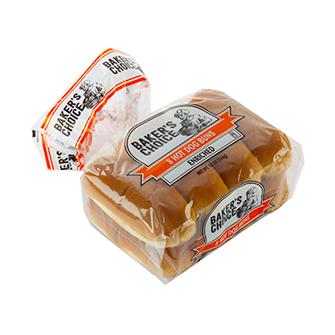 package of Baker's Choice hotdog rolls