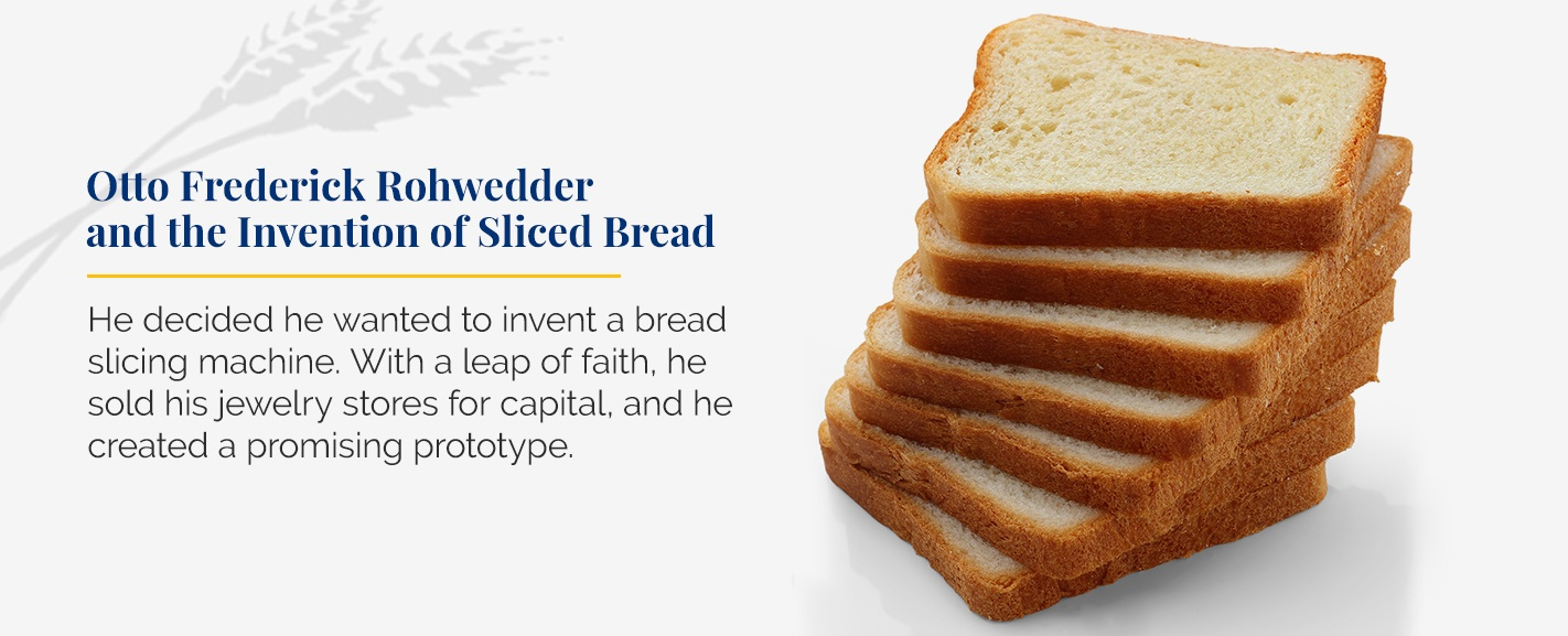 Otto Frederick Rohwedder and the Invention of Sliced Bread